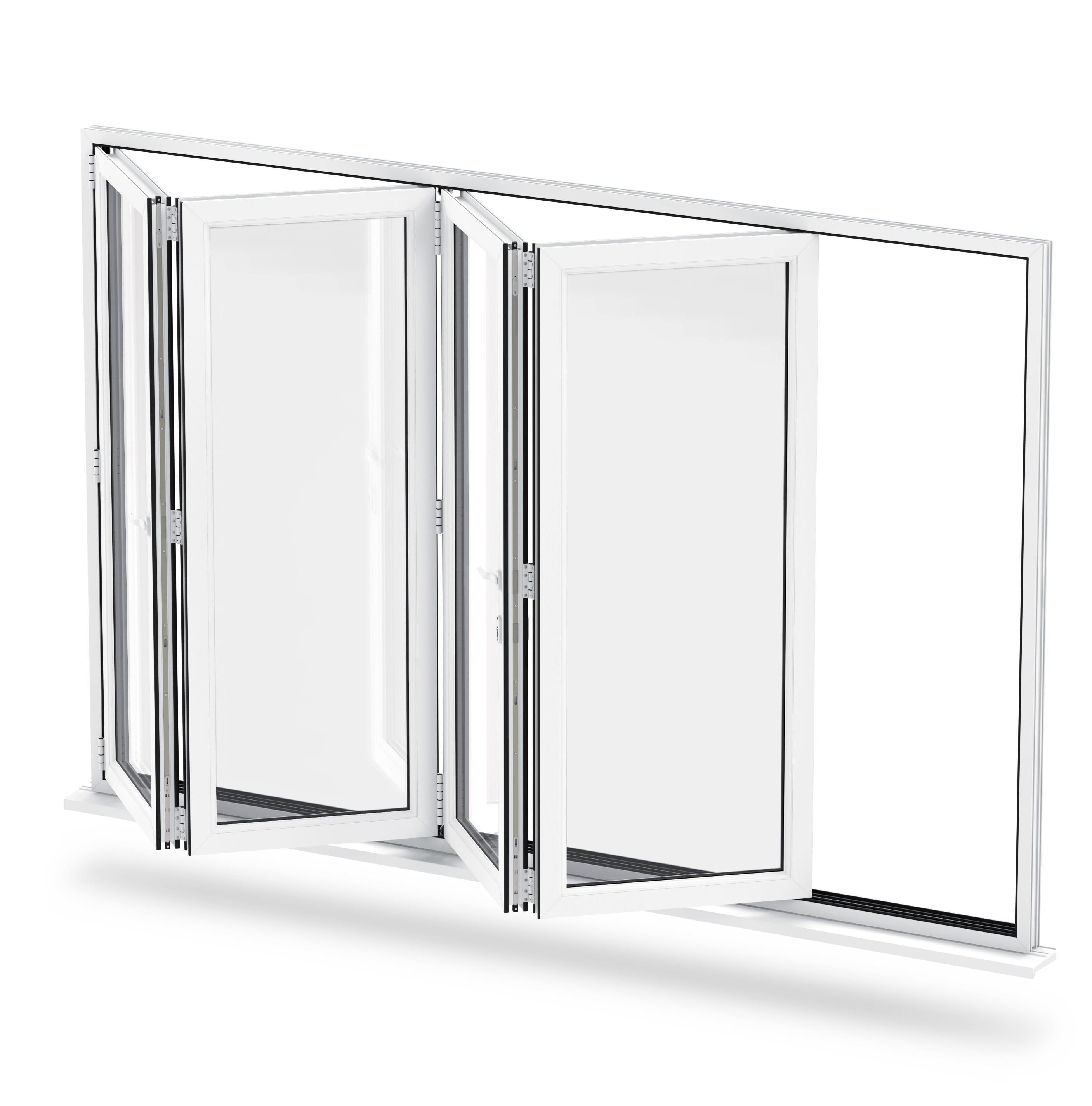 secure bi-folding door