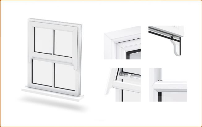 Sash Horn Windows in East Sussex from Windows Xpress